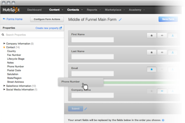 HubSpot Forms Now Feature Progressive Profiling and a New Interface