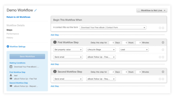 how to build workflows in hubspot