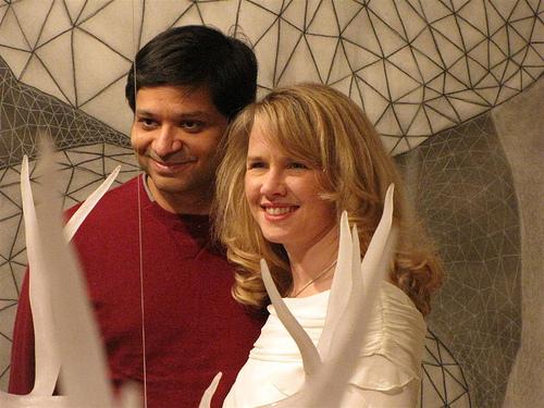 Dharmesh, Kirsten, HubSpot Holiday Party