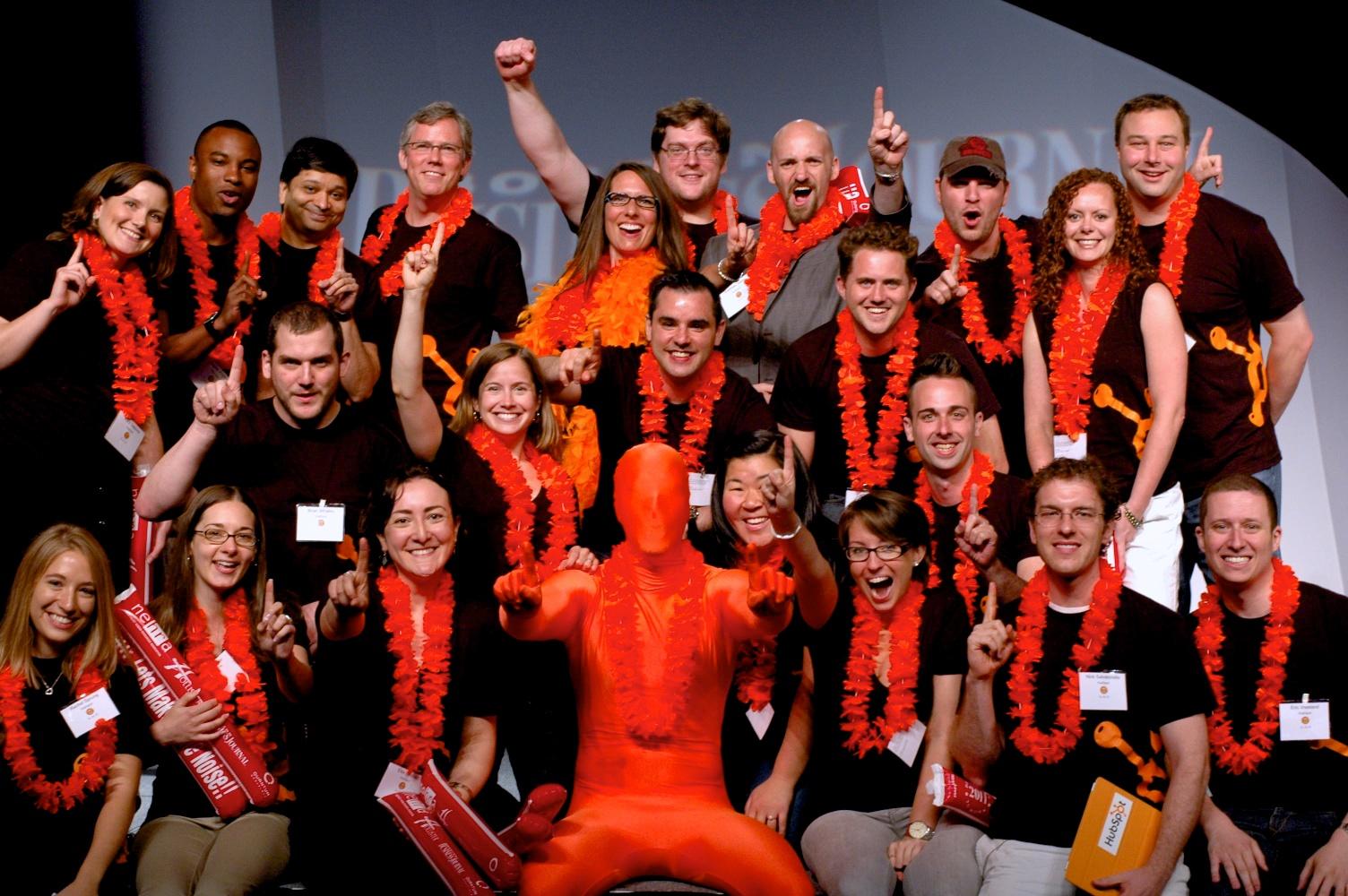 HubSpot Team At Boston Business Journal Best Places To Work Award Breakfast