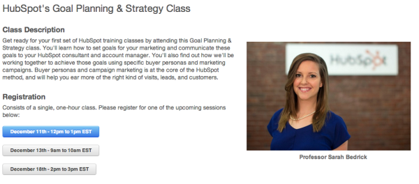 HubSpot Goal Planning Training Class resized 600