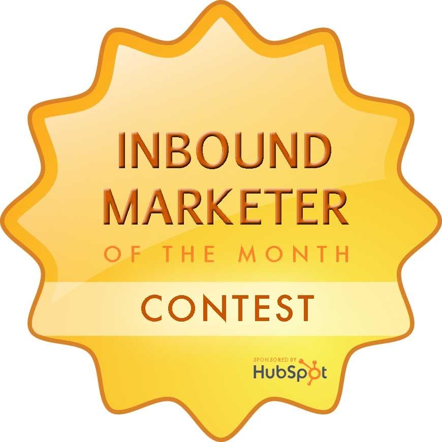 Inbound Marketer of the Month Contest