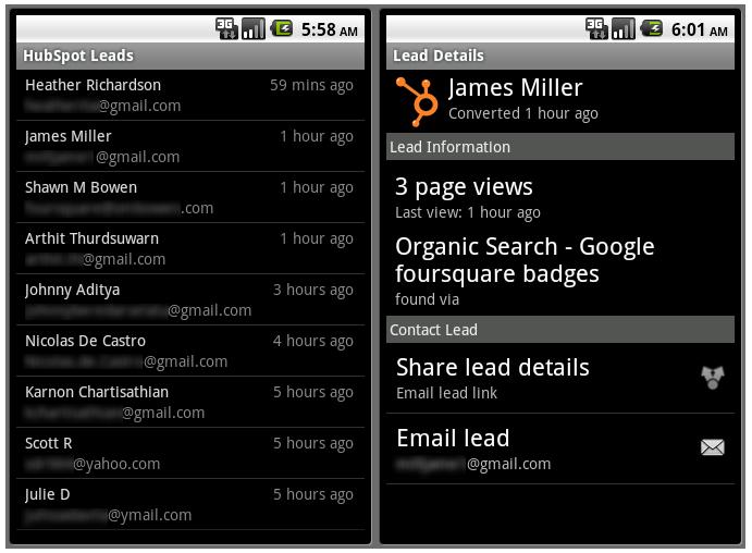 HubSpot leads app 2