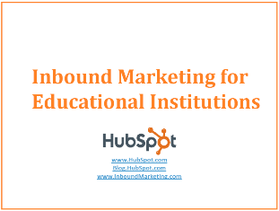 Inbound Marketing for Educational Institutions eBook