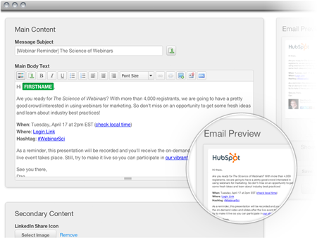 Hubspot 3 Intelligent Email System
