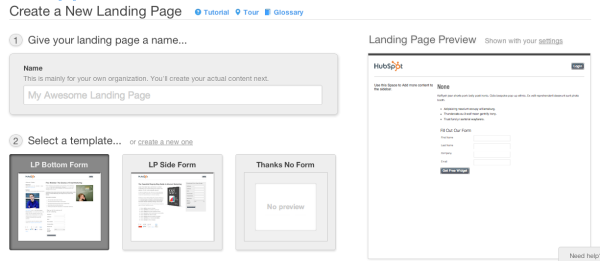 Hubspot 3 landing pages