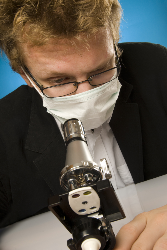 Man, Microscope