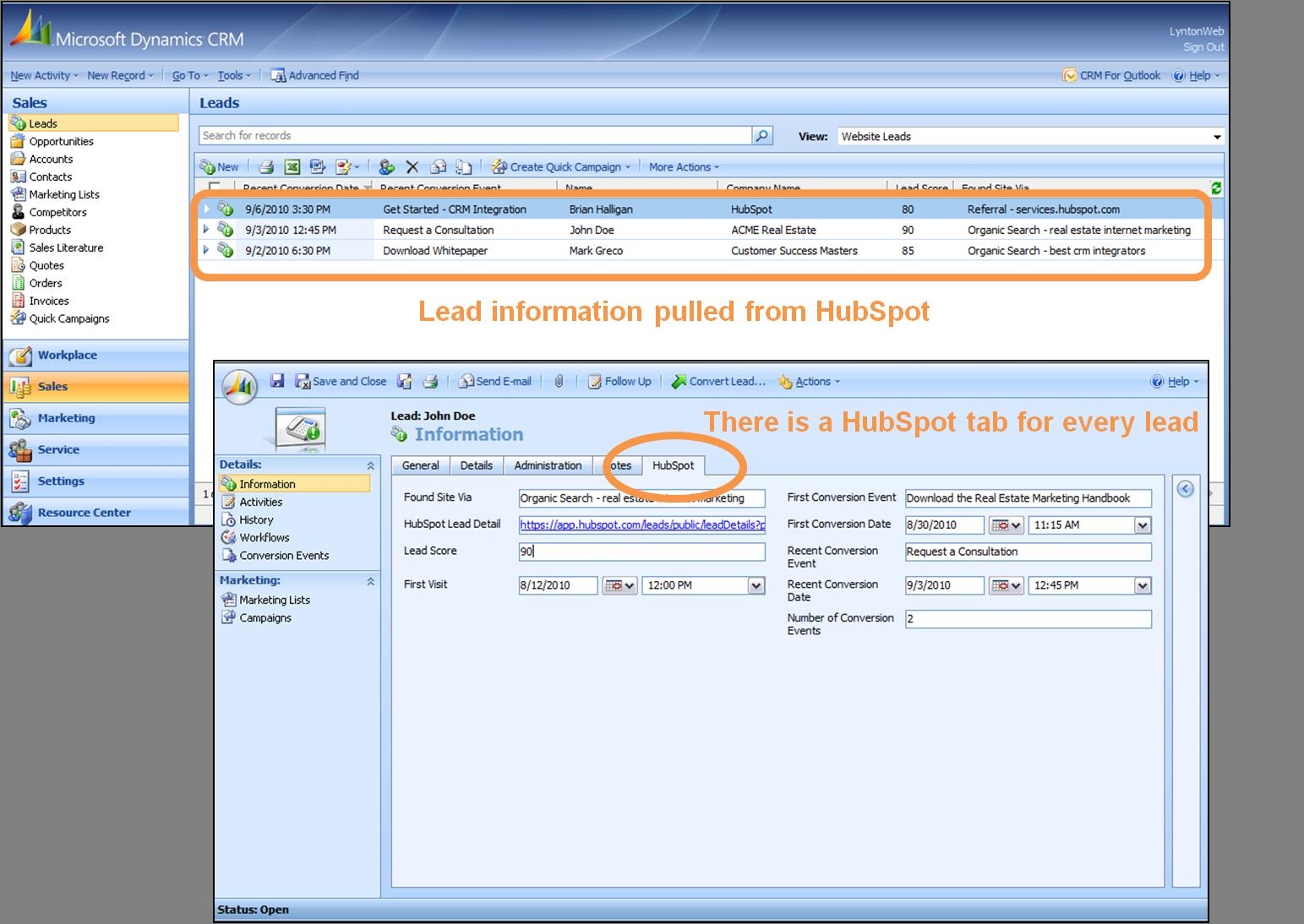 HubSpot-Microsoft-CRM-integration
