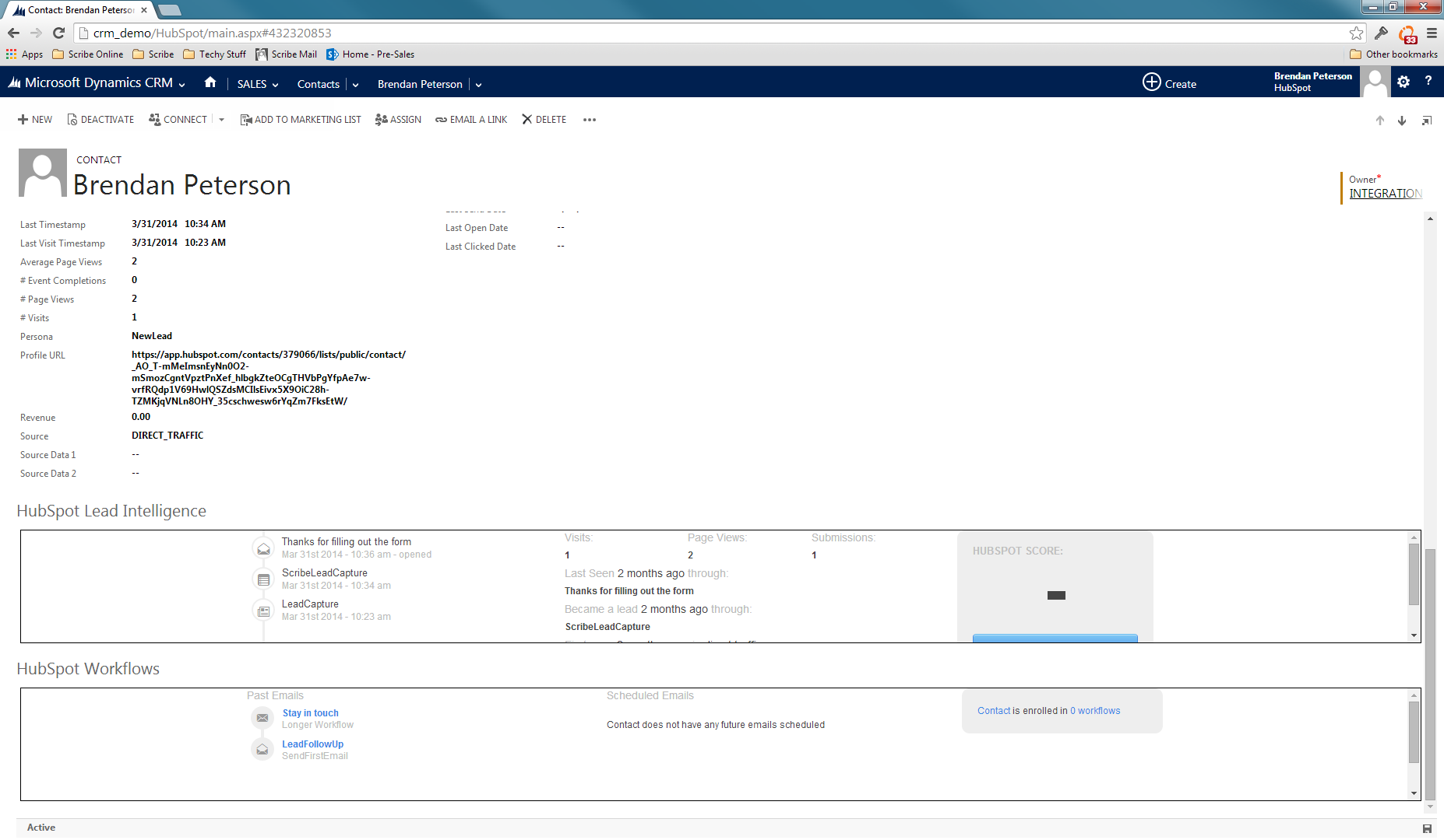 HubSpot Microsoft Dynamics Integration