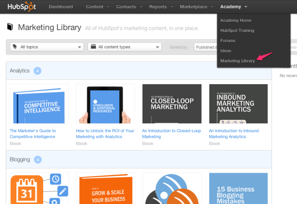 HubSpot Marketing Library