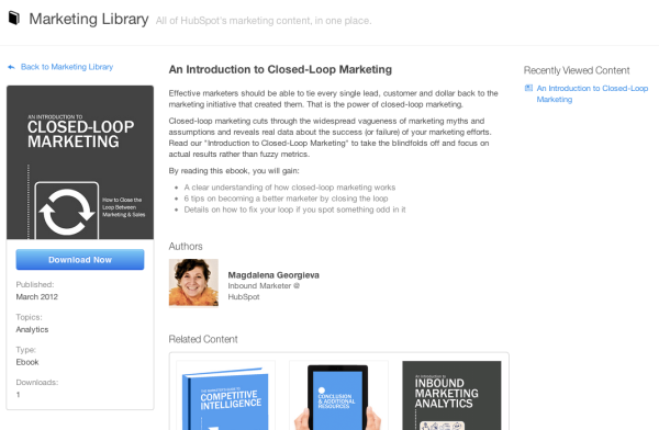 HubSpot Marketing Library Download Page resized 600