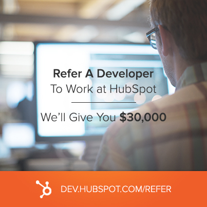 HubSpot Launches $30,000 Referral Program for Developers and Designers