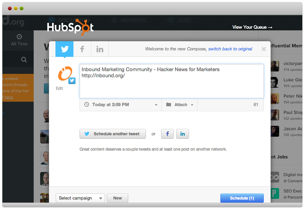 HubSpot Google Chrome Integration