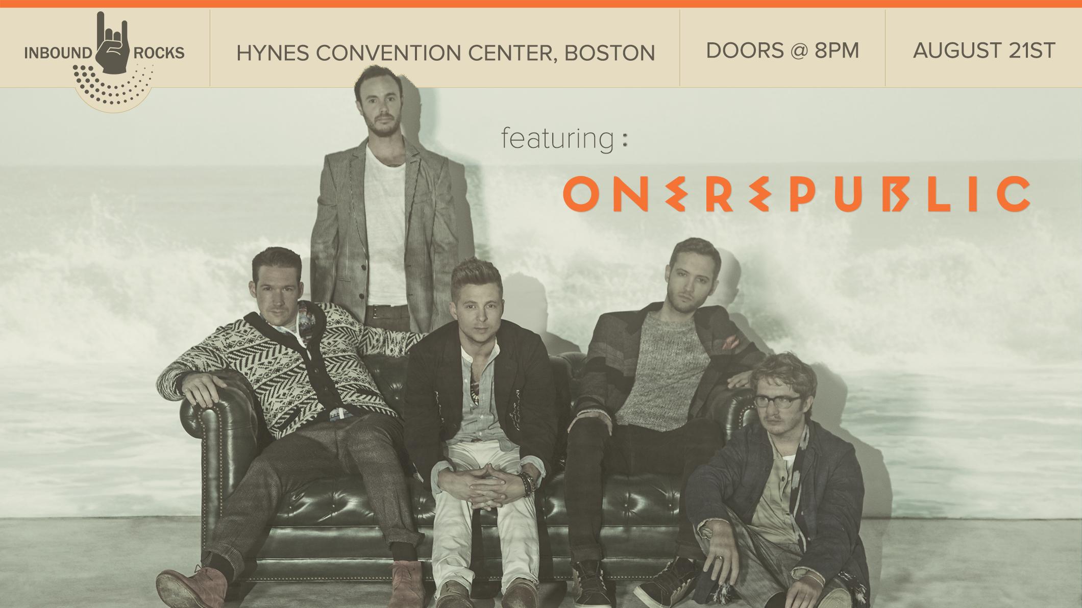 Grammy-Nominated OneRepublic to Headline INBOUND Rocks at HubSpot's Annual INBOUND Conference