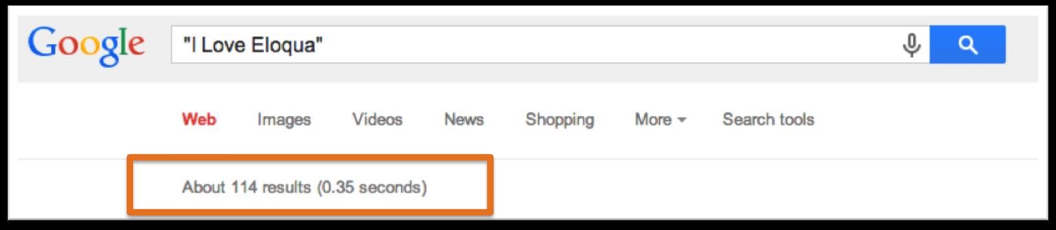 EloquaGoogleSearch