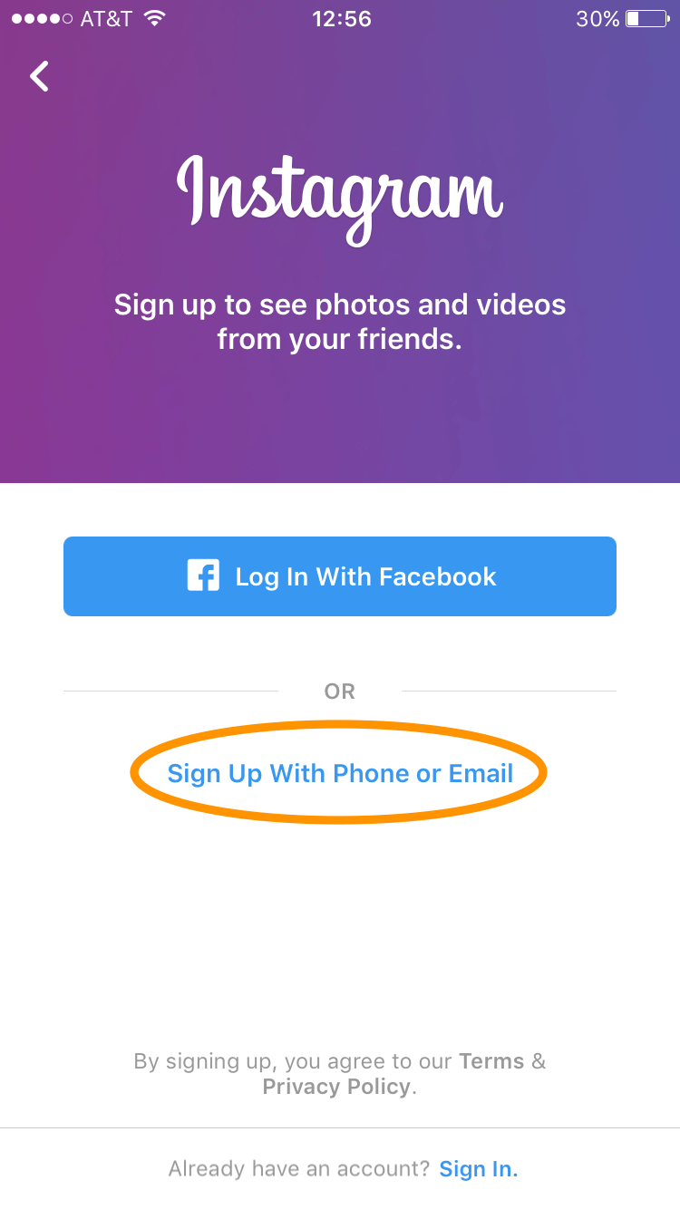 Login with Phone or Email