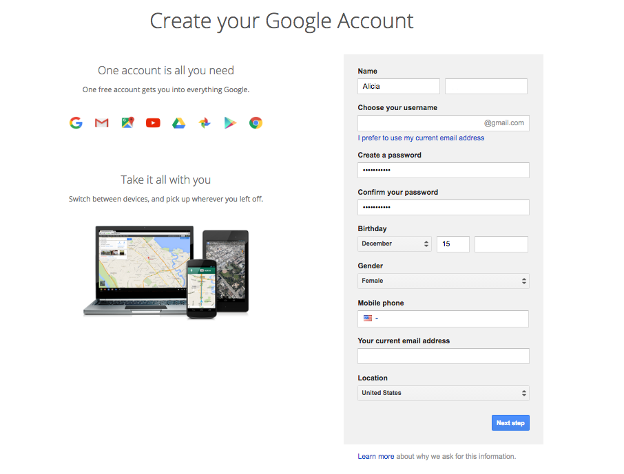 Sign up for google account.png