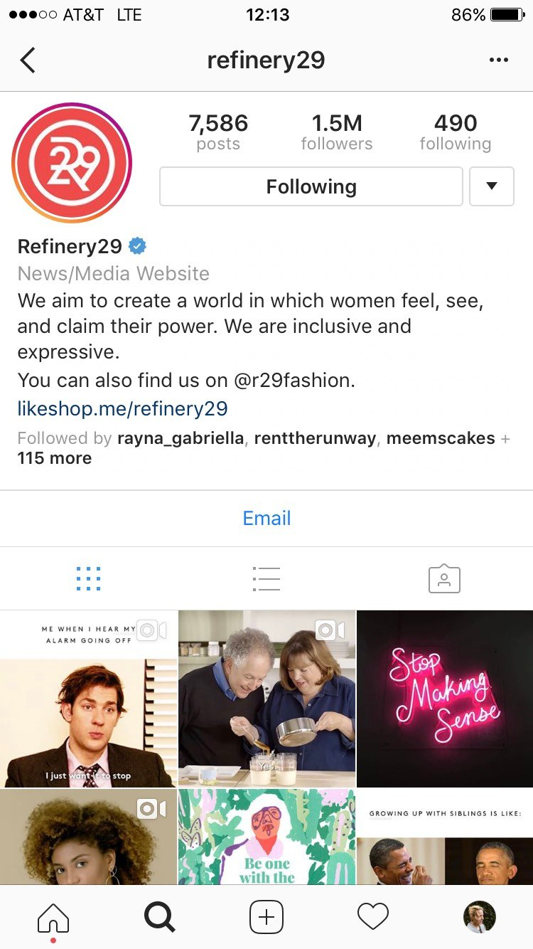 refinery29 ig example