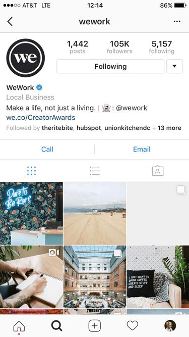 wework ig example