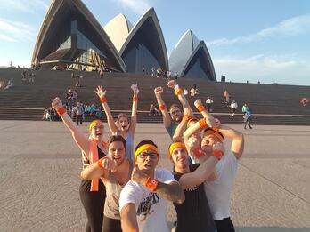 HubSpot Sydney employees in front of opera house