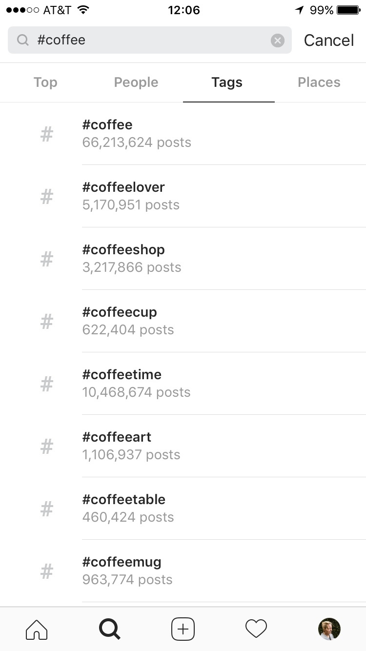 researching ig hastags