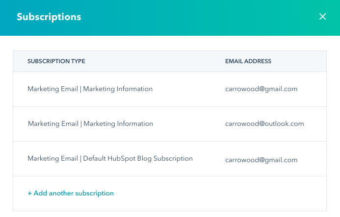 Add subscriptions