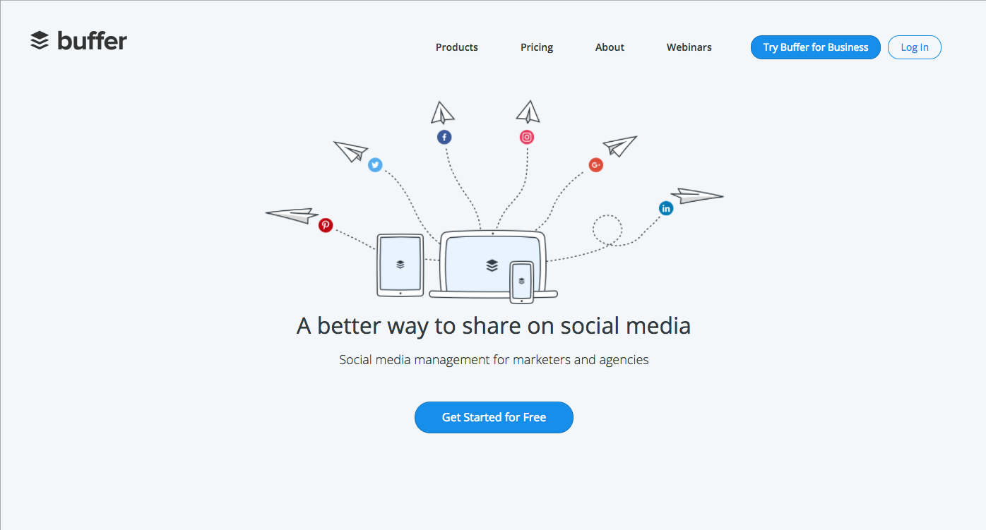 Buffer Sign Up Page