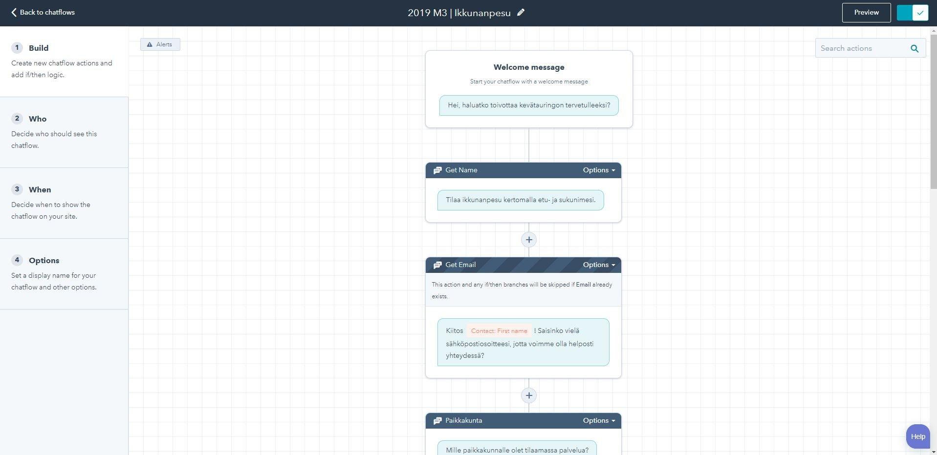 Chatflow screen cappture
