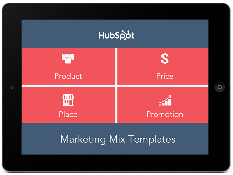 4 Free Marketing Mix Templates
