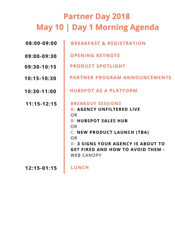 Day 1 - morning _ Partner Day 2018 Agenda