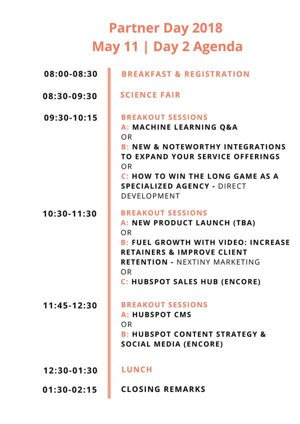 Day 2 _ Partner Day 2018 Agenda