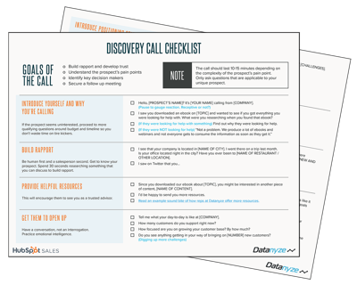 The Discovery Call Checklist