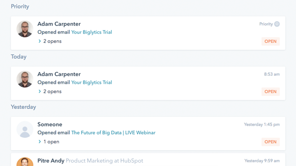 HubSpot Sales - Email Tracking