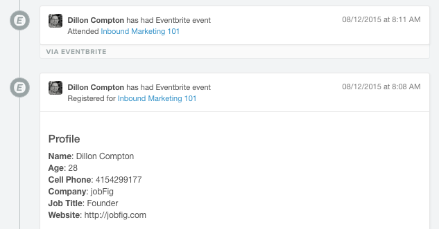 Eventbrite HubSpot integration