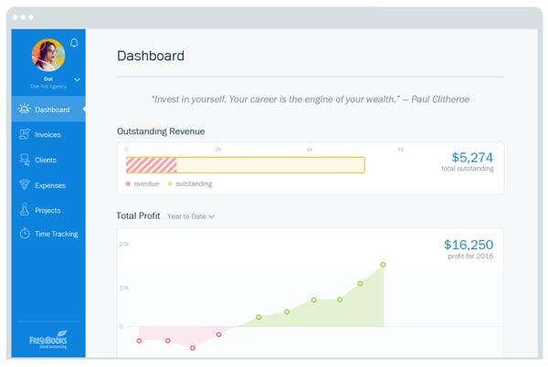 User-Friendly FreshBooks Dashboard