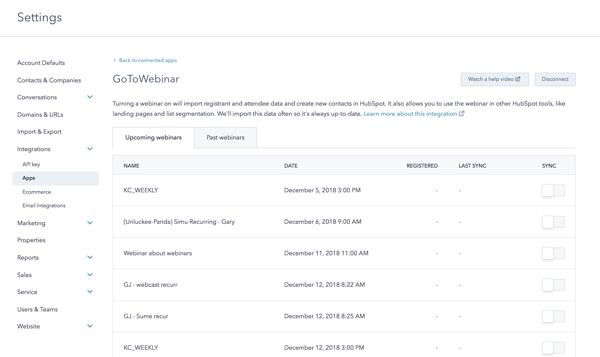 GoToWebinar and HubSpot