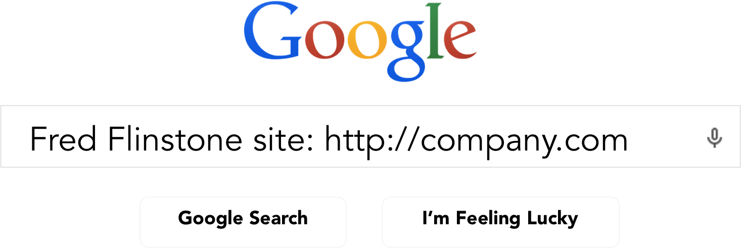 how to find google search for whole website