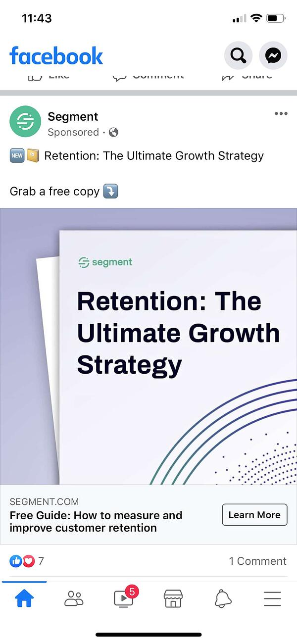 segment example of facebook lead ad