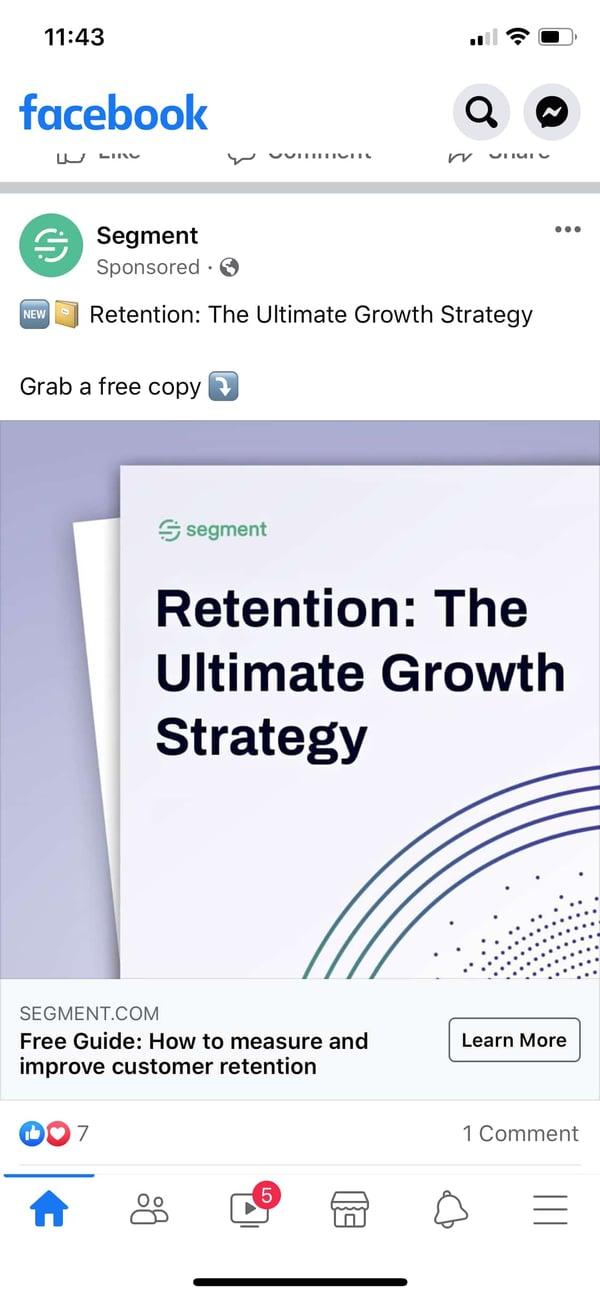 segment example of facebook lead ad