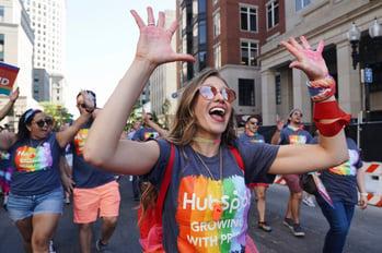 HubSpot employee at Boston Pride