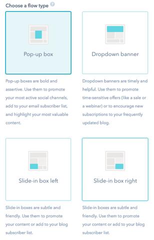HubSpot Lead Flows screenshot