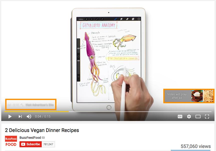 youtube in-stream ad