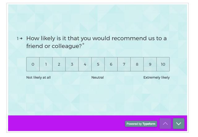 customer satisfaction typeform survey