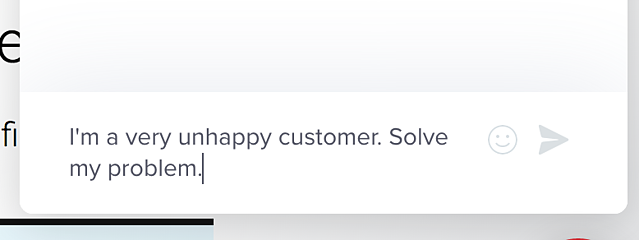 customer satisfaction unhappy customer chat