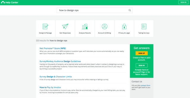 surveymonkey knowledge base help center