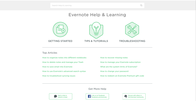 evernote knowledge base example