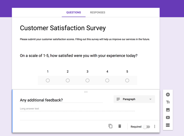 customer satisfaction google forms survey