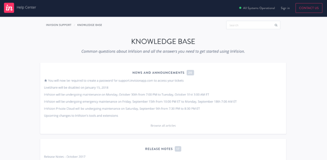 invision knowledge base