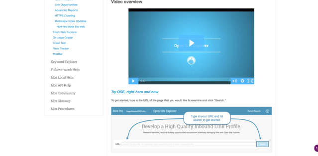 moz knowledge base videos