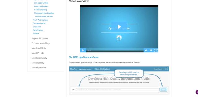 moz knowledge base videos